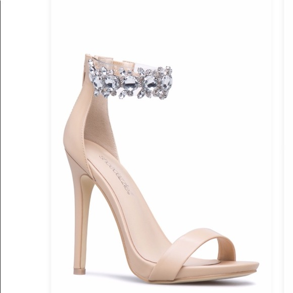 159bd823749 ShoeDazzle High Heels Nude Ankle StrapSize 8